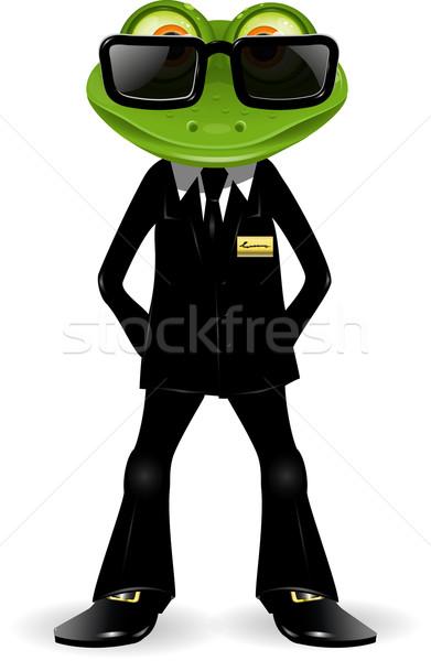 Sapo guarda de segurança terno preto negócio segurança óculos Foto stock © brux