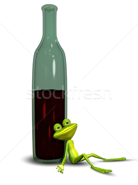 3D Illustration Drunk Frog Stock photo © brux