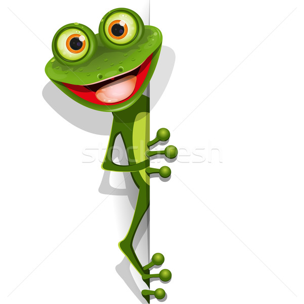 Vert grenouille illustration vecteur joyeux Photo stock © brux