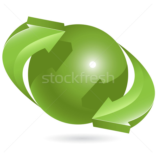 ball and green arrows Stock photo © brux
