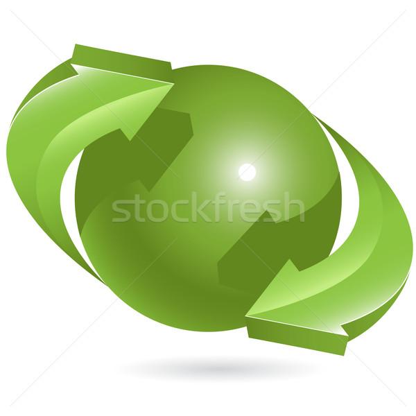 Palla verde frecce abstract illustrazione in giro Foto d'archivio © brux