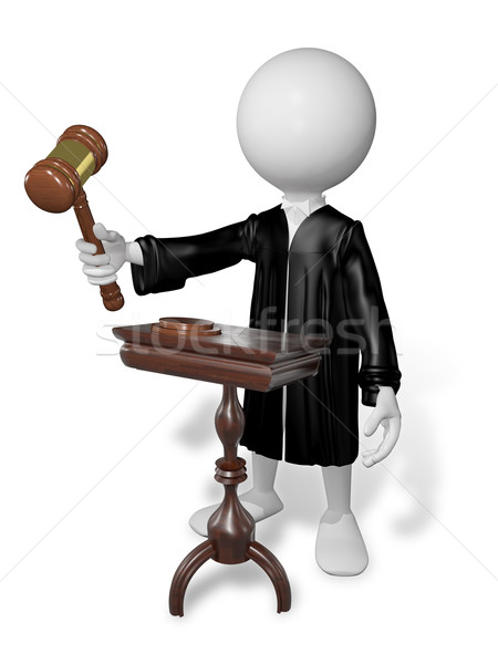 человека молоток аннотация иллюстрация судья таблице Сток-фото © brux