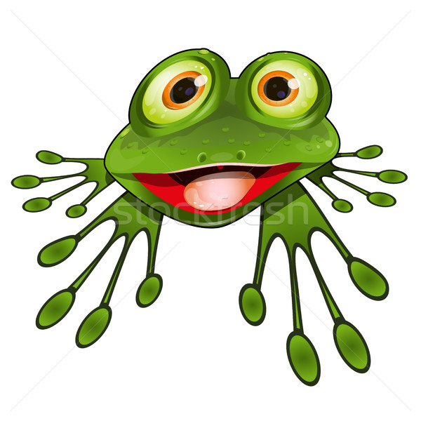 Cheerful Green Frog Stock photo © brux