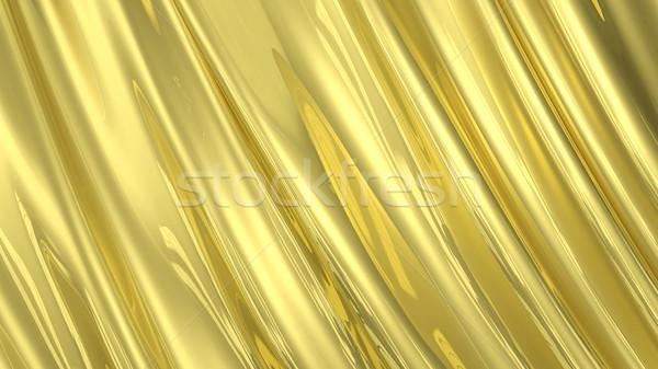 3d иллюстрации аннотация золото ткань шелковые текстуры Сток-фото © brux