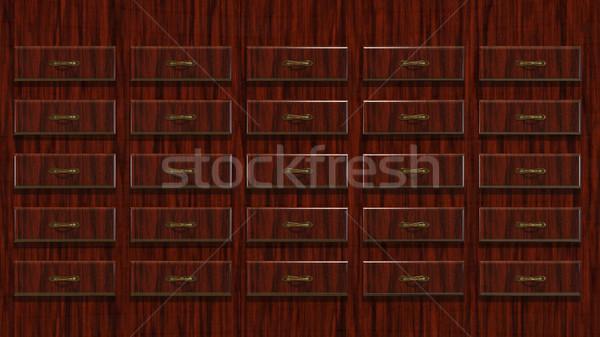 Ilustração 3d abstrato armário fundo mobiliário Foto stock © brux