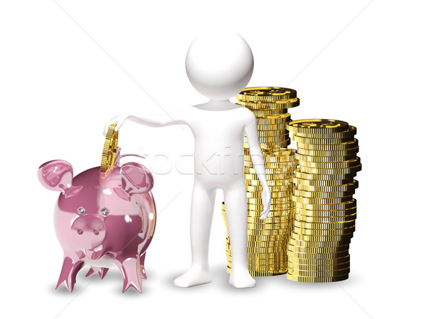 man with piggy bank Stock photo © brux