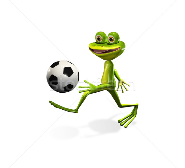 soccer player frog Stock photo © brux