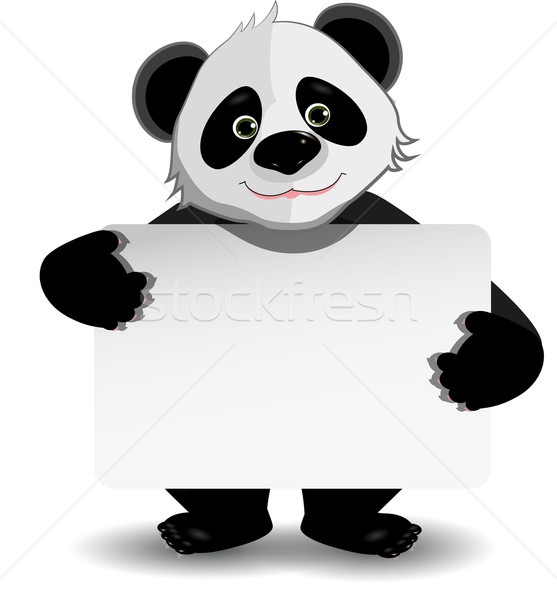 panda with white background Stock photo © brux