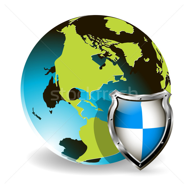 Globe and shield Stock photo © brux