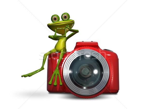 Frog on camera Stock photo © brux