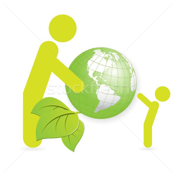Pessoas globo ilustração pessoa presentes verde Foto stock © brux
