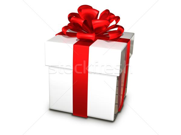 gift box white Stock photo © brux