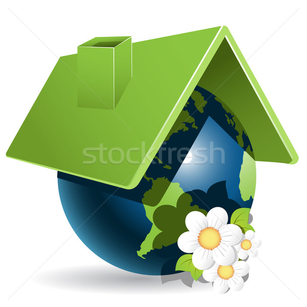 globe and flowers Stock photo © brux