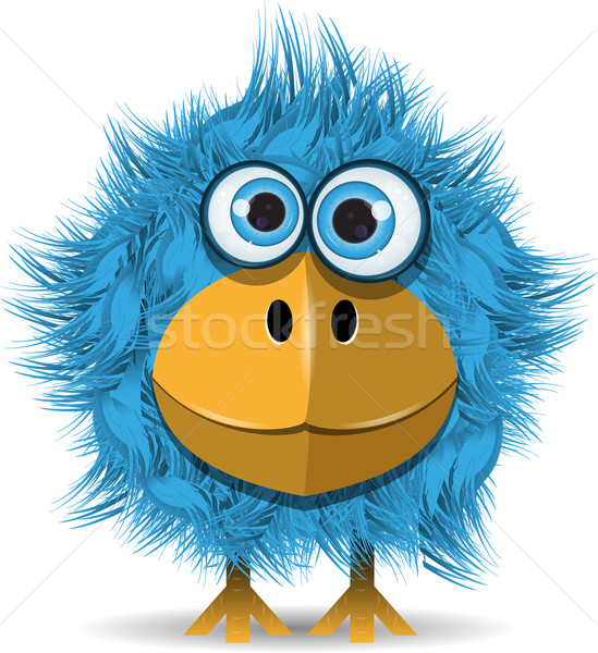 funny blue bird Stock photo © brux