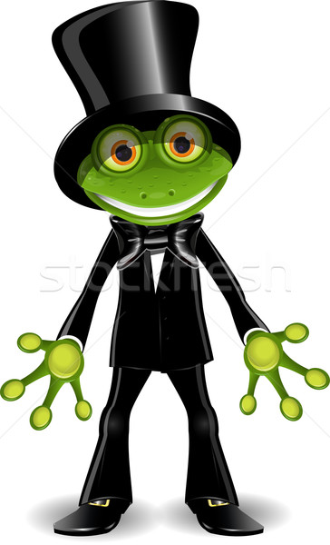 Stock photo: Frog in a top hat