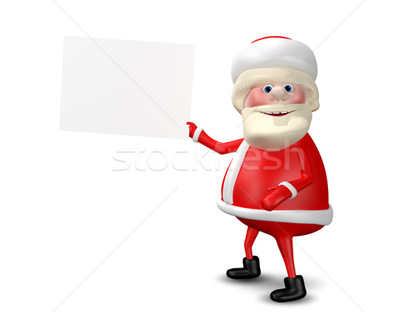 3D Illustration Jolly Santa Claus with  White Background Stock photo © brux