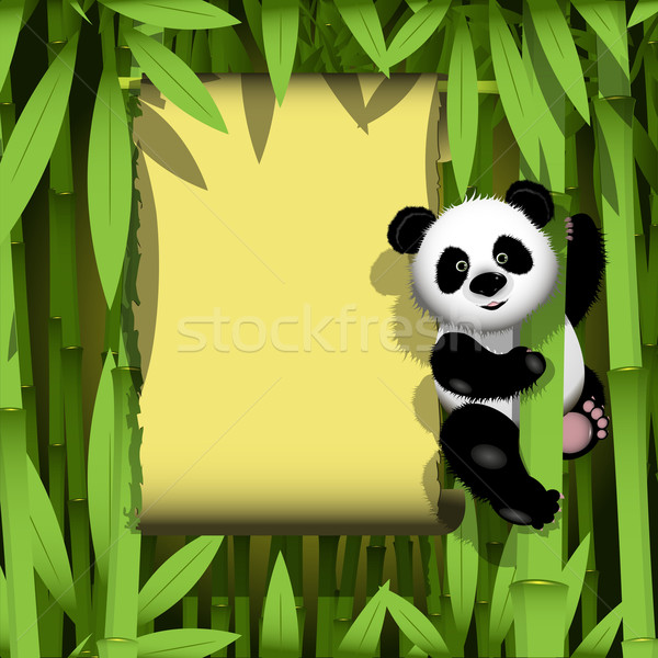 Panda in the jungle Stock photo © brux