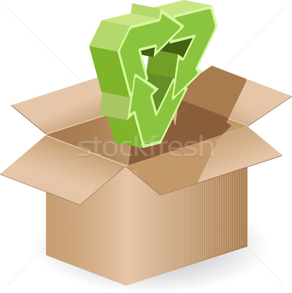 green arrows and box Stock photo © brux