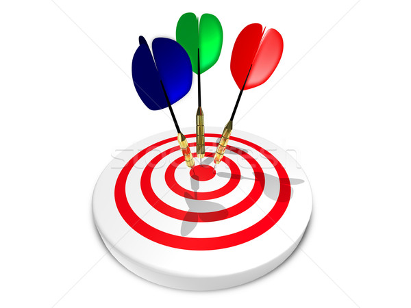 Drie darts target abstract illustratie Stockfoto © brux