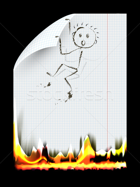 burning a piece of paper Stock photo © brux