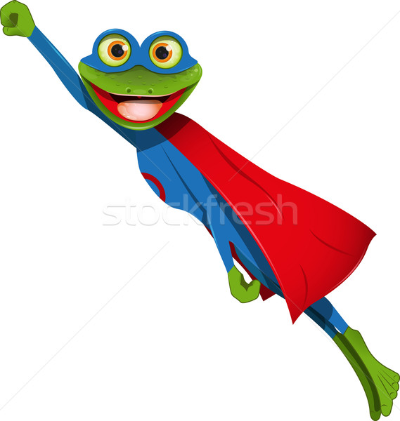 frog superman Stock photo © brux
