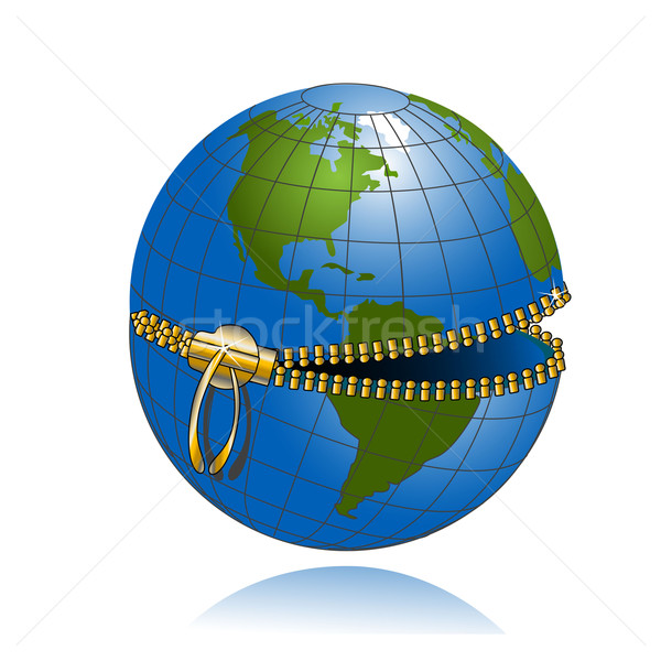 Globe on lock Stock photo © brux