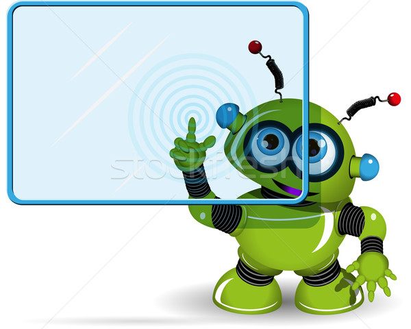 Green Robot and Screen Stock photo © brux