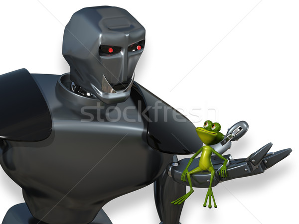 Robot and the Frog Stock photo © brux