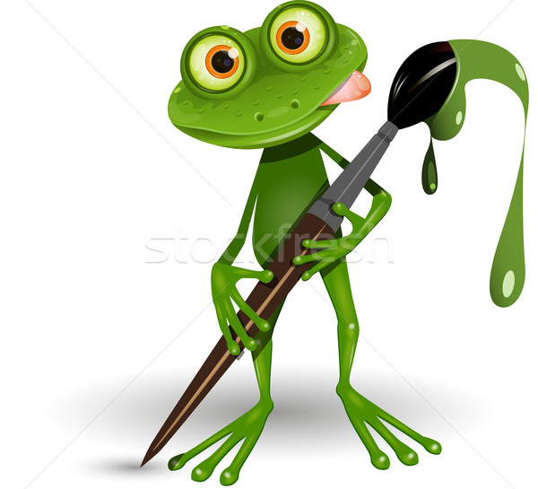 Frog with Paint Stock photo © brux