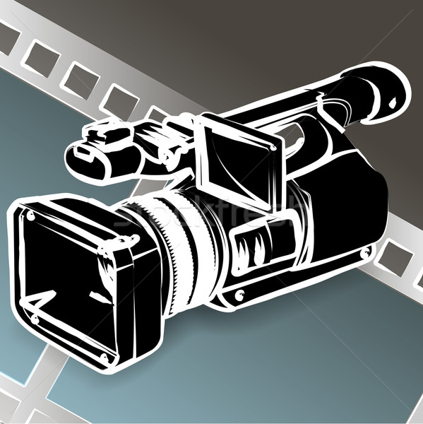 Caméra vidéo illustration crayon film télévision Photo stock © brux