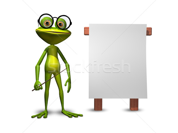 Frog with a pointer Stock photo © brux