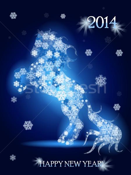 snow horse Stock photo © brux