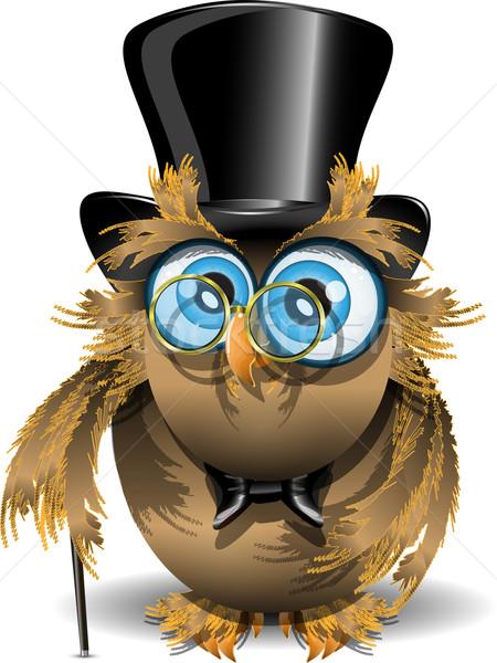 Картинки совы в очках