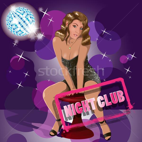 Club nocturno ilustración resumen mujer mujeres danza Foto stock © brux