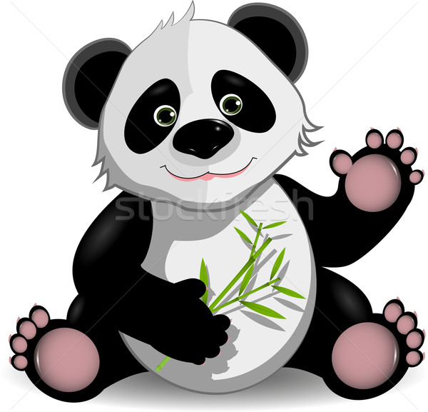 funny panda Stock photo © brux