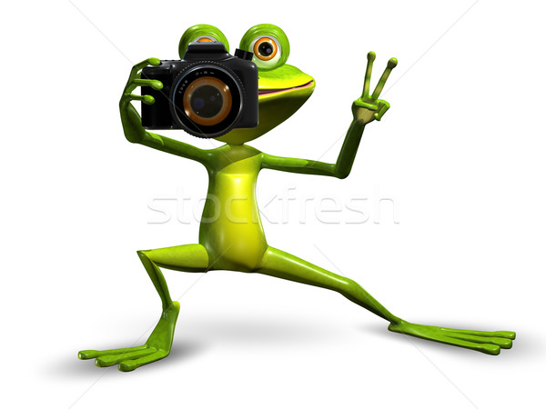 Frog with a Camera Stock photo © brux