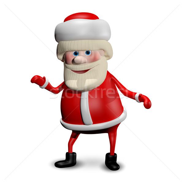 3D Illustration Jolly Santa Claus Stock photo © brux