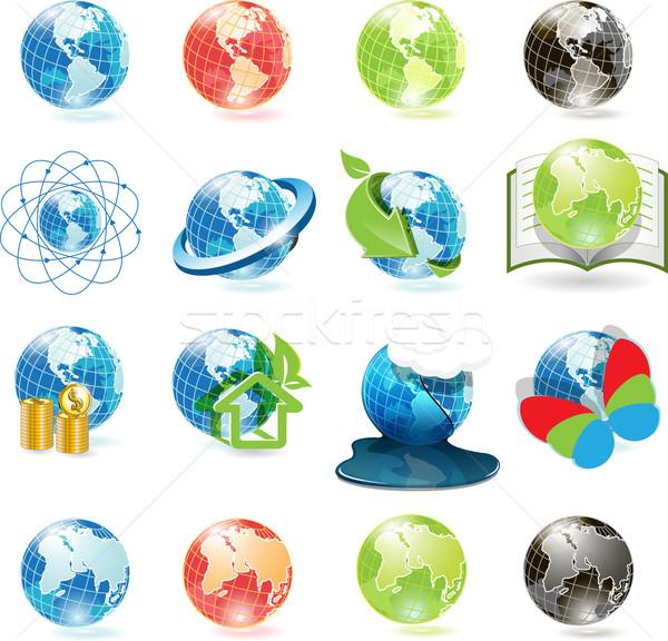 icons globe Stock photo © brux