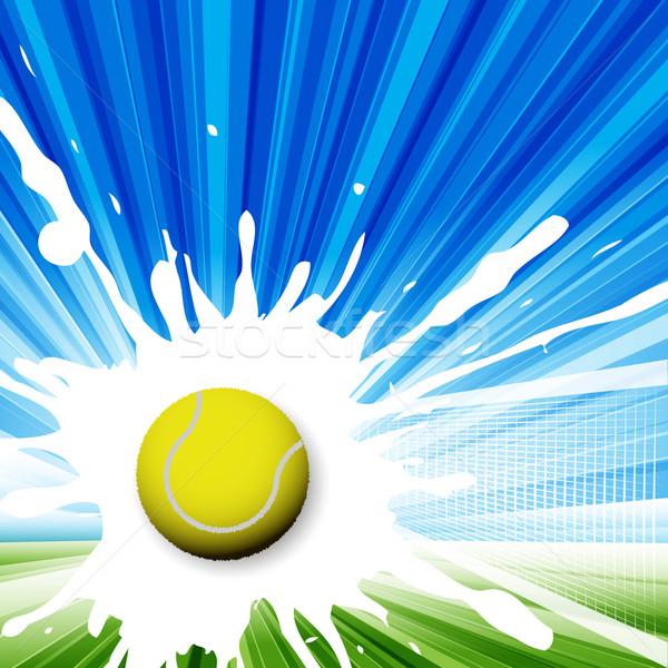 теннис иллюстрация теннисный мяч аннотация зеленый небе Сток-фото © brux
