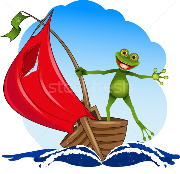 frog on a boat Stock photo © brux