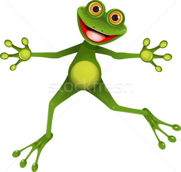 happy green frog Stock photo © brux