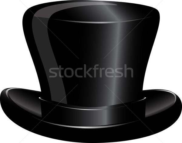 Kalap henger illusztráció fekete fehér férfi Stock fotó © brux