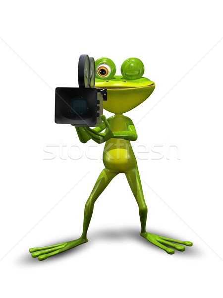 Frog with camcorder Stock photo © brux
