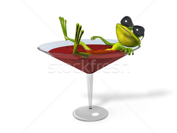 Frog in a glass of wine Stock photo © brux
