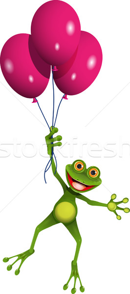 Frog in balloons Stock photo © brux