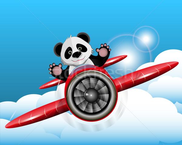 パンダ 平面 実例 赤 自然 ストックフォト © brux