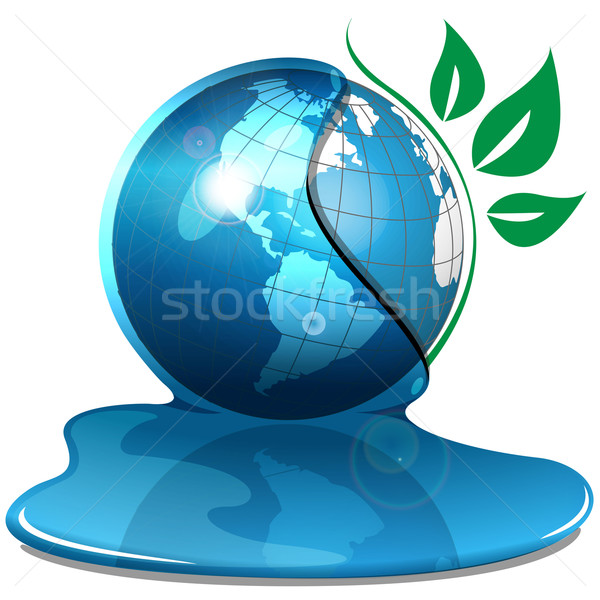 globe and water Stock photo © brux