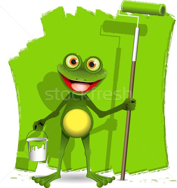 frog painter Stock photo © brux