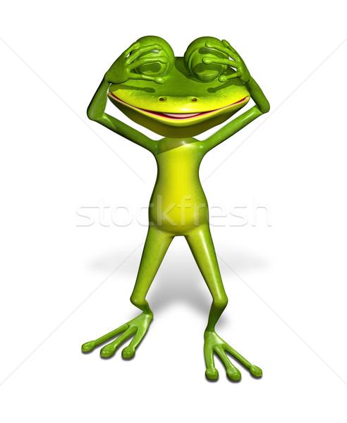 green frog Stock photo © brux