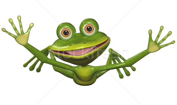 flying frog Stock photo © brux
